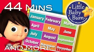 Months Of The Year Song | Plus Lots More Nursery Rhymes | 44 Minutes Compilation from LittleBabyBum!