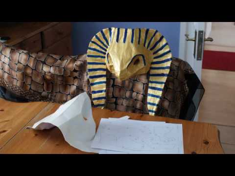 Making a paper mache mask or sculpture using a low poly pattern
