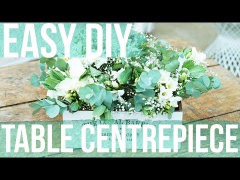 DIY Easy Floral Wedding Centerpieces