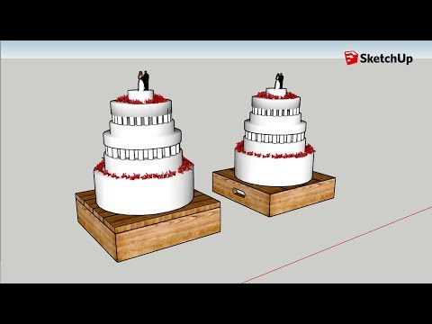 Barret and Cortney's Wedding Cake in SketchUp - Answering Viewer Questions