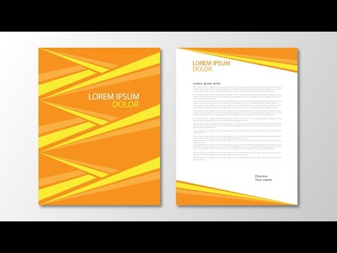 Illustrator tutorial - Abstract triangle letterhead template