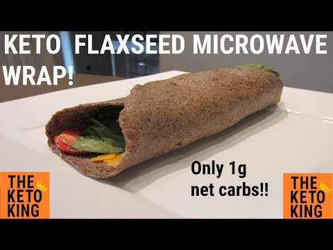 Keto Microwave Flaxseed Wrap | Keto Wrap | Low Carb Wrap | Only 1 gram net carb!