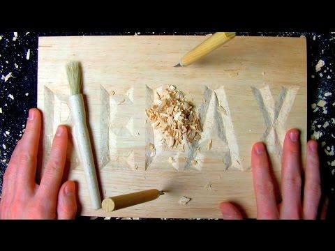 ASMR wood carving