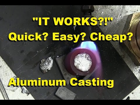 Surprisingly Easy Way to Cast Aluminum