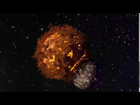 Planet Collision in Blender