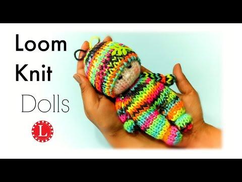 Loom Knitting Tiny Dolls Toys (Round Loom) Loomahat   Telar   Tricotin   نول
