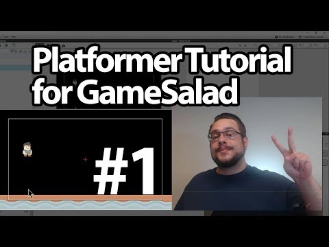 GameSalad Platformer Tutorial #01 - Creating our Platform and Jump Mechanic