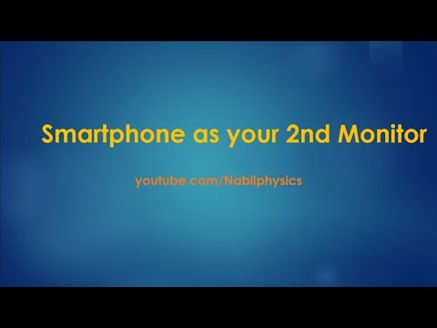 Nabil's Just a Minute Video -- Use  Mobile as 2nd Monitor of your Laptop by SpaceDesk App