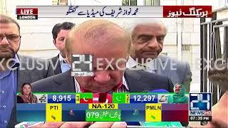 EX PM Nawaz Sharif media talk in London | 17th September 2017 | 24 News HD