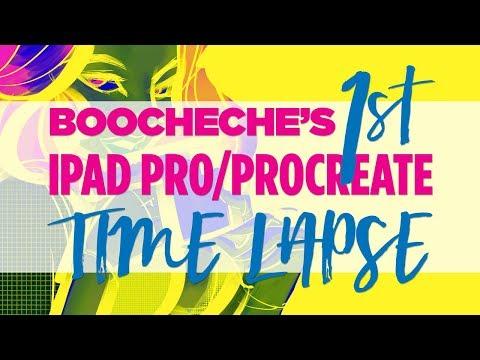 Boocheche -- 1st iPadPro/Procreate Drawing! Time Lapse!
