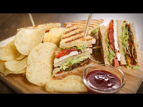 Veg Club Sandwich Recipe | Quick Breakfast / Tiffin / Snack Recipe | The Bombay Chef - Varun Inamdar