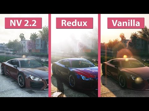 GTA 5 – NaturalVision 2.2 vs. Redux vs. Vanilla Visual Graphics Mod Comparison