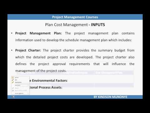 Project Cost Management   Plan Cost Management