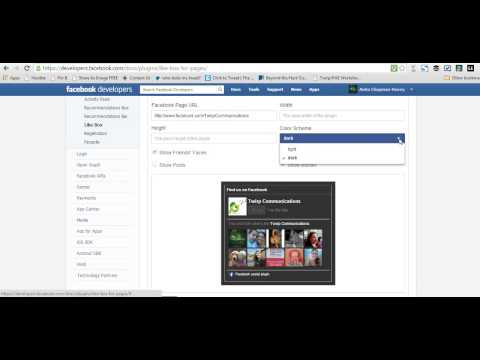 How to get the Facebook LIke Box Code for your Facebook Page