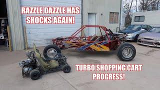 Turbo Shopping Go Kart and V6 Powered Dune Buggy Update!