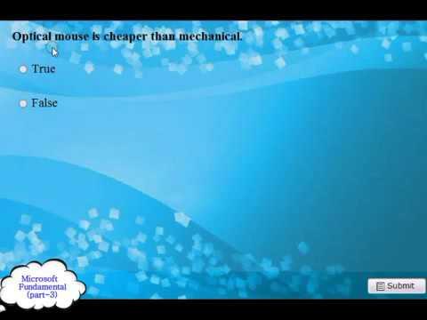 Microsoft Fundamental Practice 200720102013 2014 Exam Q and A pt 3