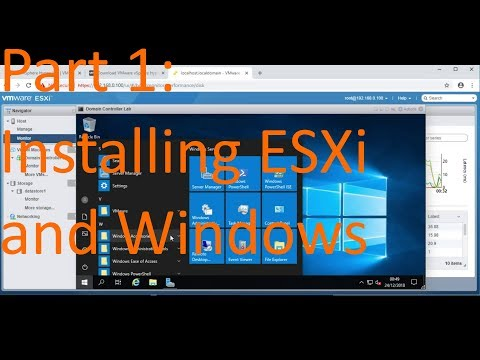 Part 1: Installing ESXi and Windows Server 2019 - Basic Windows Server and Active Directory Admin