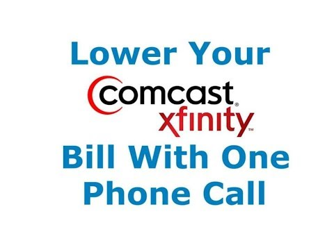 How to Lower Your Comcast/Xfinity Bill