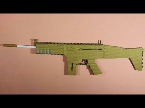 How to make a scar - that shoots (cardboard gun)