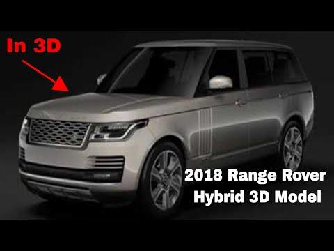 3D Model of Range Rover Hybrid LWB L405 2018