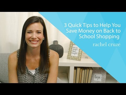 3 Quick Tips to Help You Save Money on Back to School Shopping