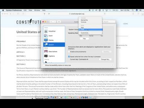 Make your mac read out loud!