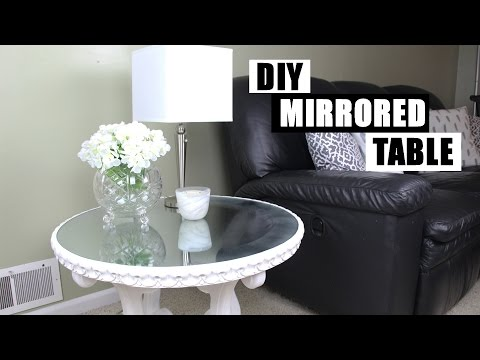 DIY Mirror Furniture | How To Turn Glass Into A Mirror | DIY Mirrored Nightstand Side Table