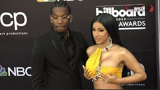 Cardi B and Offset arrive at 2019 Billboard Music Awards Red carpet