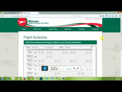 Biman Bangladesh Airlines Flight  Check