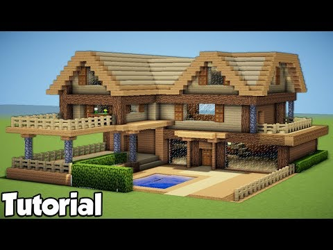 Minecraft: How to Build a Large Wooden House - Tutorial 2018 /Survival/