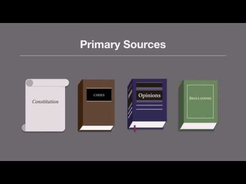 Legal Research and Writing course: Primary and Secondary Sources | quimbee.com