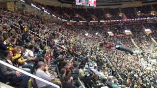 Reaction as Kyle Korver gets introduced and hits his first 3-pointer as a Cavalier at the Q