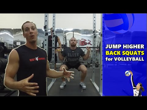 Back Squats for Volleyball Players to Jump Higher
