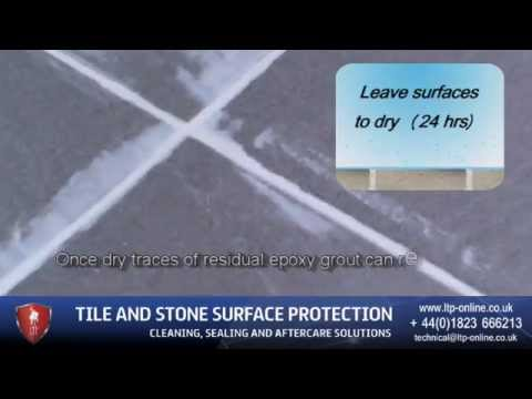 How to remove Epoxy grout residue