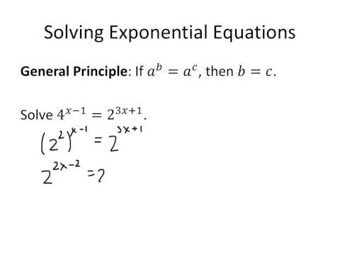 Brainstorming: Solving Simple Exponential Equations