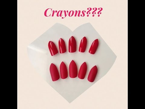 Fake Nails made of Crayons!
