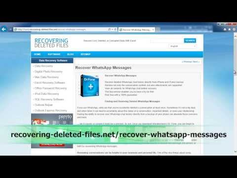 How To Recover Whatsapp Messages QUICK