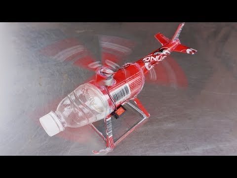 How to Make a Helicopter Using Cans - Electric Helicopter Very Easy at Home