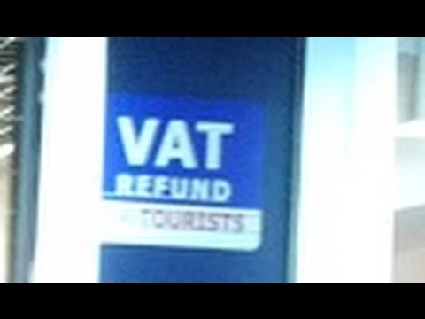 VAT Refund for tourists at the airport