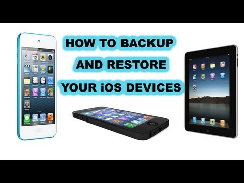 How To Backup And Restore iPhone, iPad, iPod Touch From Backup