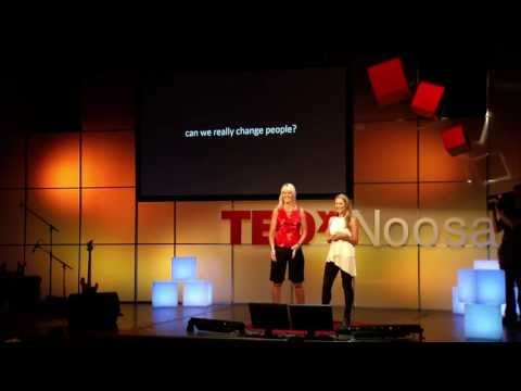 Acceptance as the key to changing others: Alanda Thompson and Samantha Clarke at TEDxNoosa