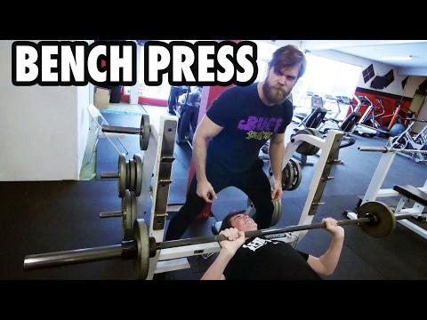 Teen Beginners Bodybuilding Training - BENCH PRESS