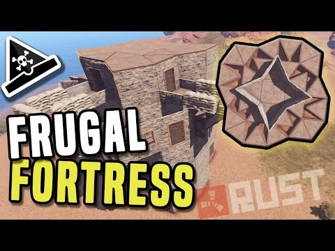 FRUGAL FORTRESS - A solo/duo/trio small group Base Build - Frugal Fortress, cheap staged Rust base!