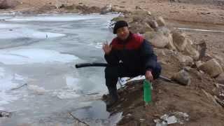 Siphon technique of draining artificial lakes