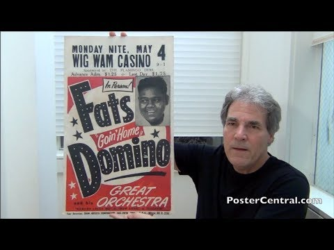 Fats Domino Window Card 1953 Very First w/Classic Design
