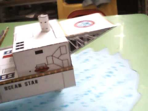 Ocean Star - Jackup Oil Rig - paper model