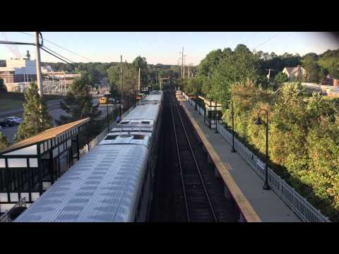 LIRR Port Jeff trains #615 and #604 meet at Stony Brook - 9/18/15
