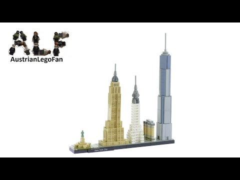 Lego Architecture 21028 New York City - Lego Speed Build Review