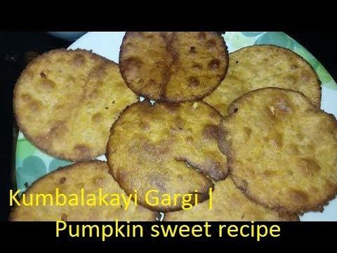 Kumbalakayi Gargi using jaggery | Pumpkin sweet  poori recipe
