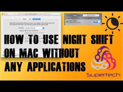 How to use Night Shift on MacOS - no applications/stock